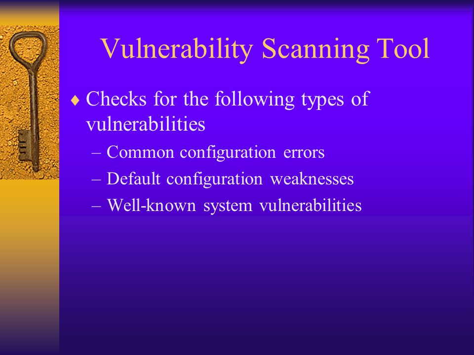 Vulnerability Scanning Tool