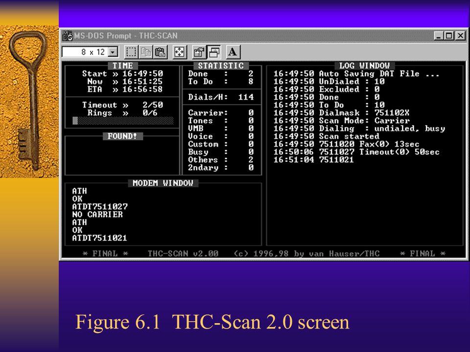 Figure 6.1 THC-Scan 2.0 screen