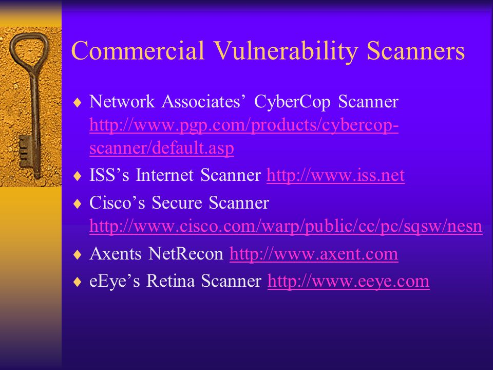 Commercial Vulnerability Scanners
