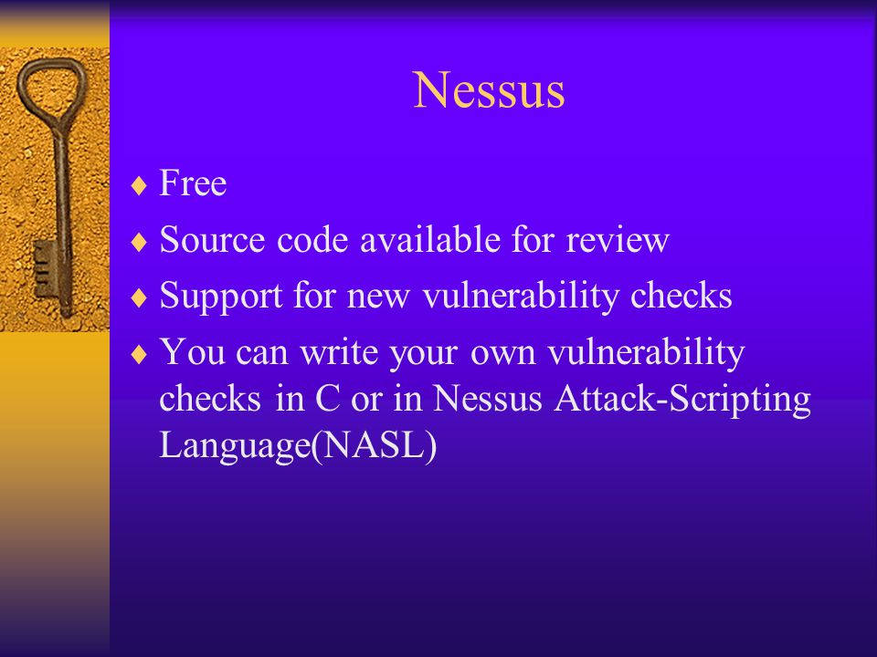 Nessus Free Source code available for review