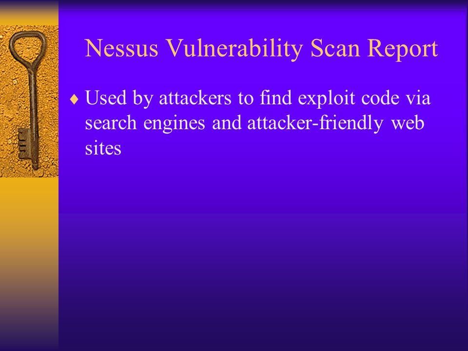 Nessus Vulnerability Scan Report