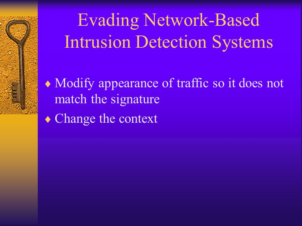 Evading Network-Based Intrusion Detection Systems