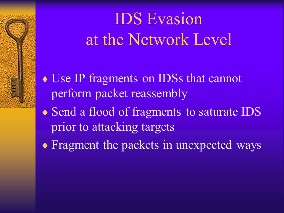 IDS Evasion at the Network Level