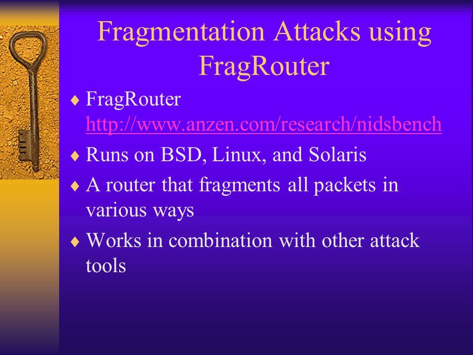 Fragmentation Attacks using FragRouter