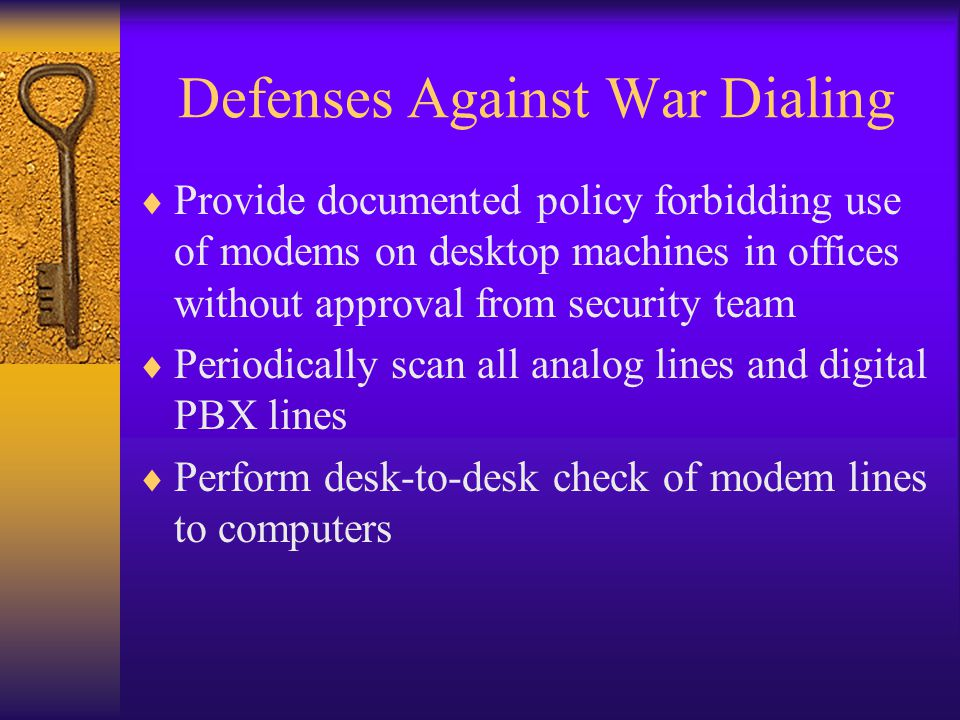 Defenses Against War Dialing