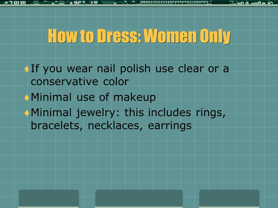 How to Dress: Women Only