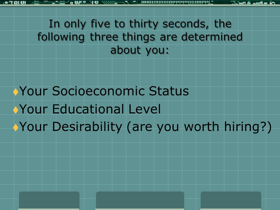 Your Socioeconomic Status Your Educational Level