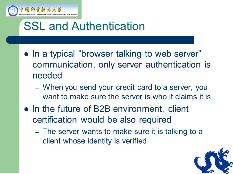 SSL and Authentication