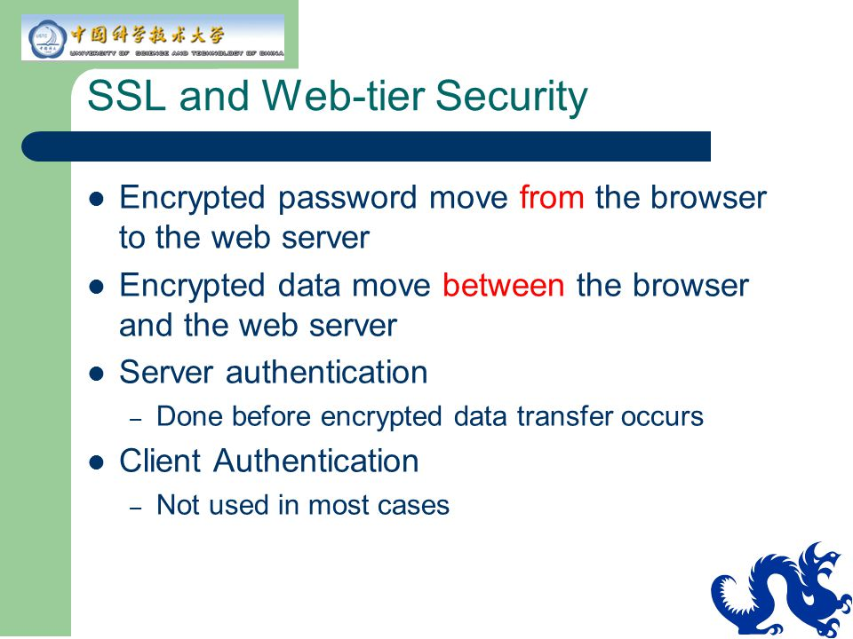 SSL and Web-tier Security