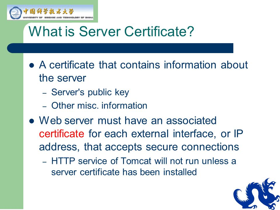 What is Server Certificate