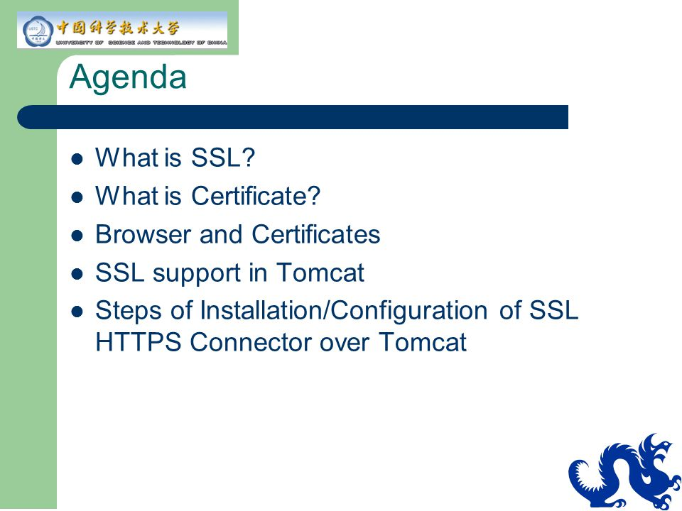 Agenda What is SSL What is Certificate Browser and Certificates