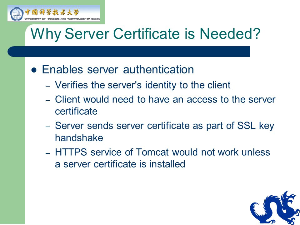 Why Server Certificate is Needed