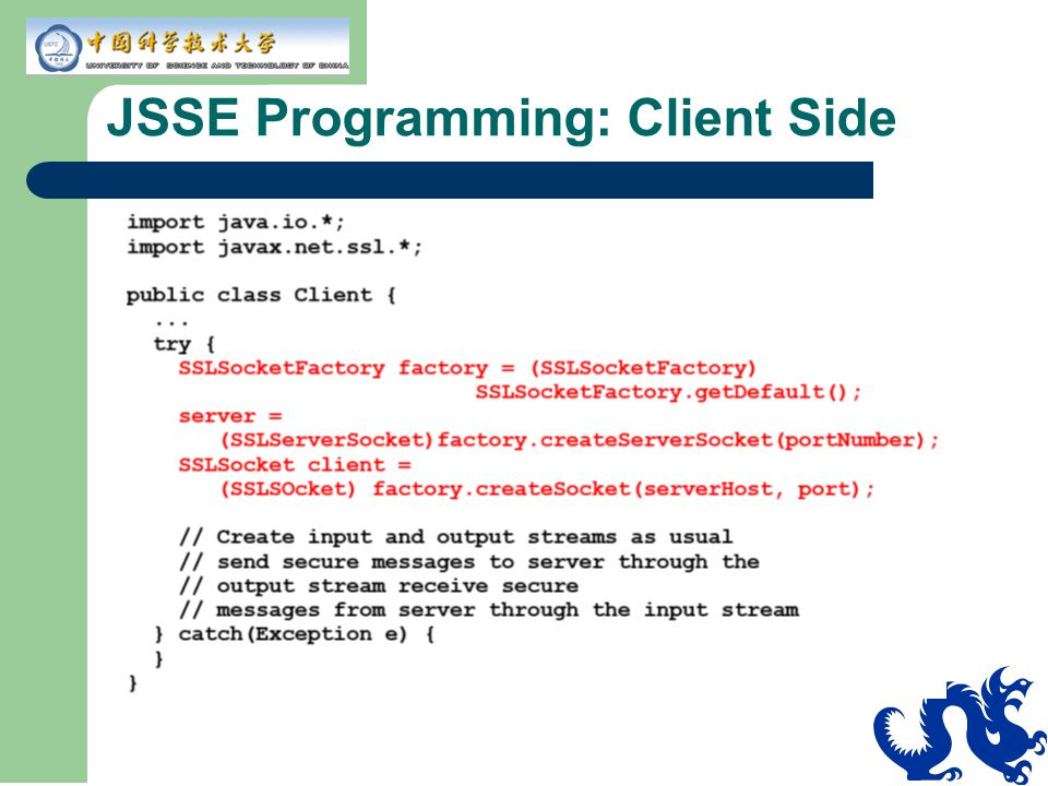 JSSE Programming: Client Side
