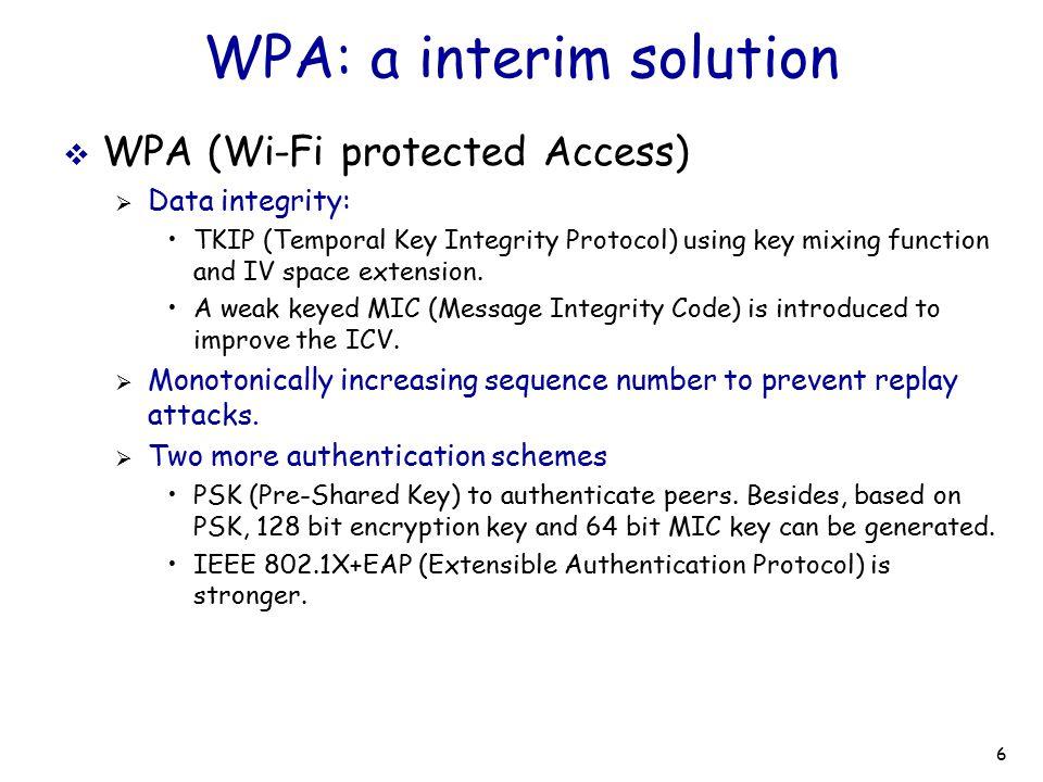 WPA: a interim solution