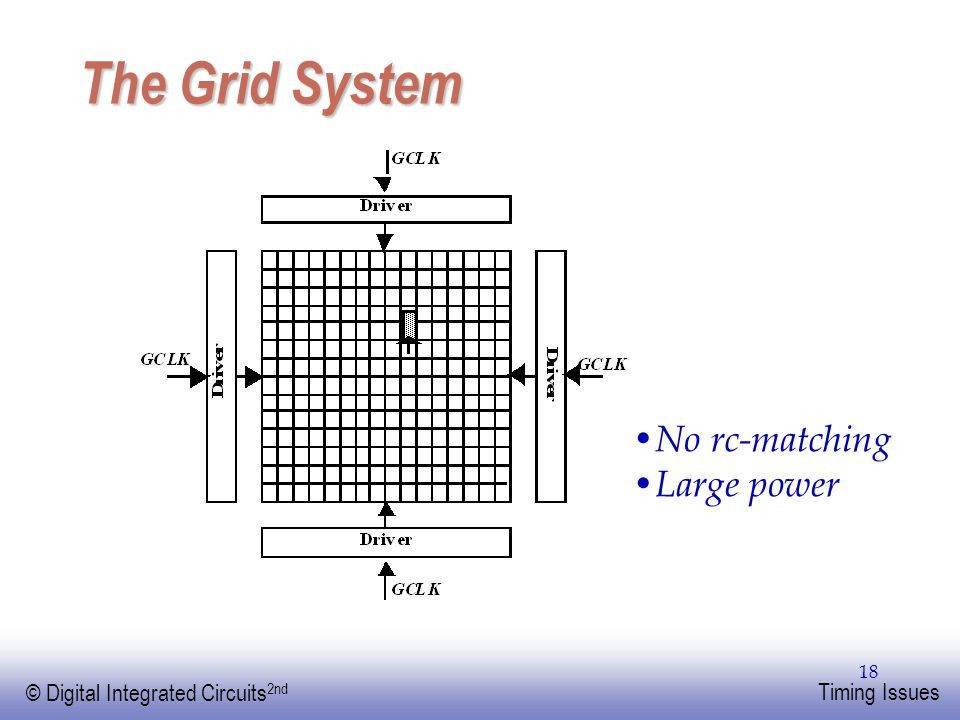 The Grid System No rc-matching Large power