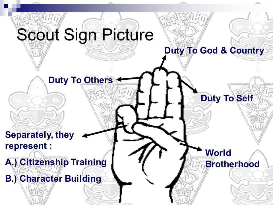 Scout Sign Picture Duty To God & Country Duty To Others Duty To Self