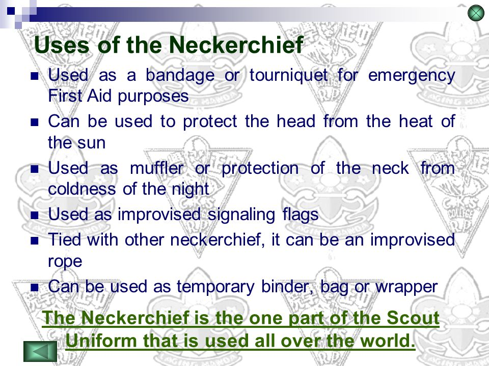 Uses of the Neckerchief