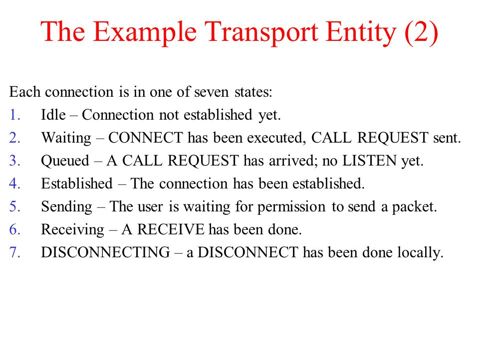 The Example Transport Entity (2)
