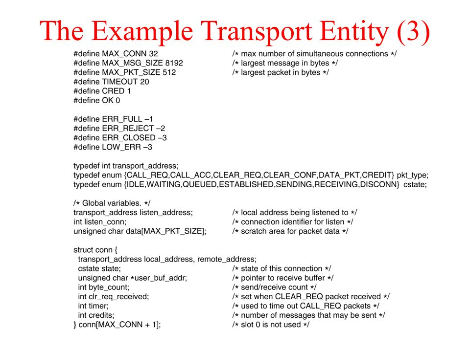 The Example Transport Entity (3)