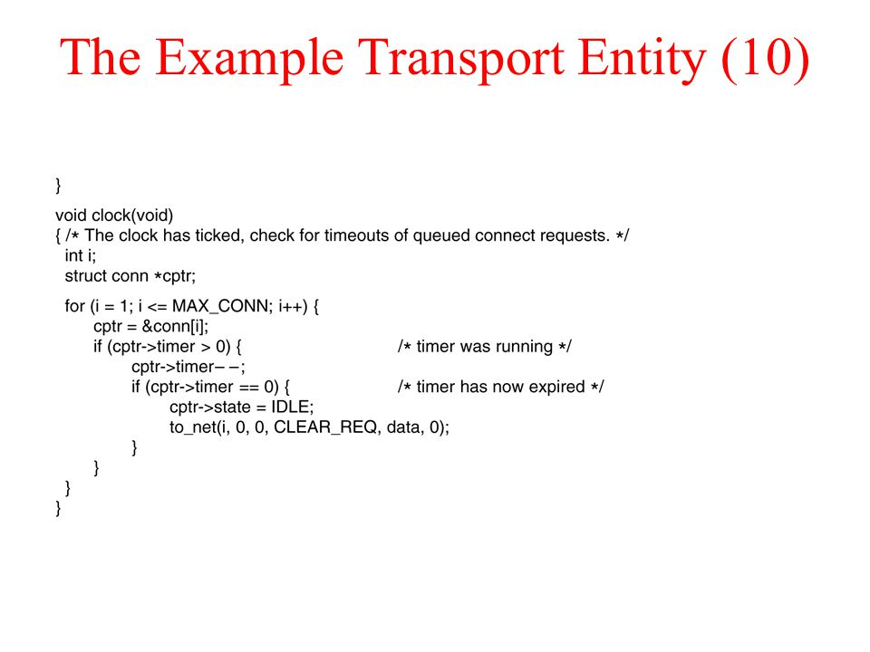 The Example Transport Entity (10)