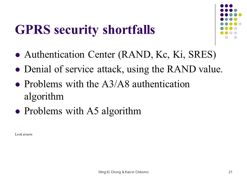 GPRS security shortfalls
