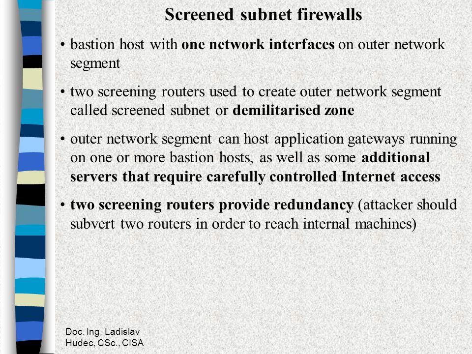 Screened subnet firewalls