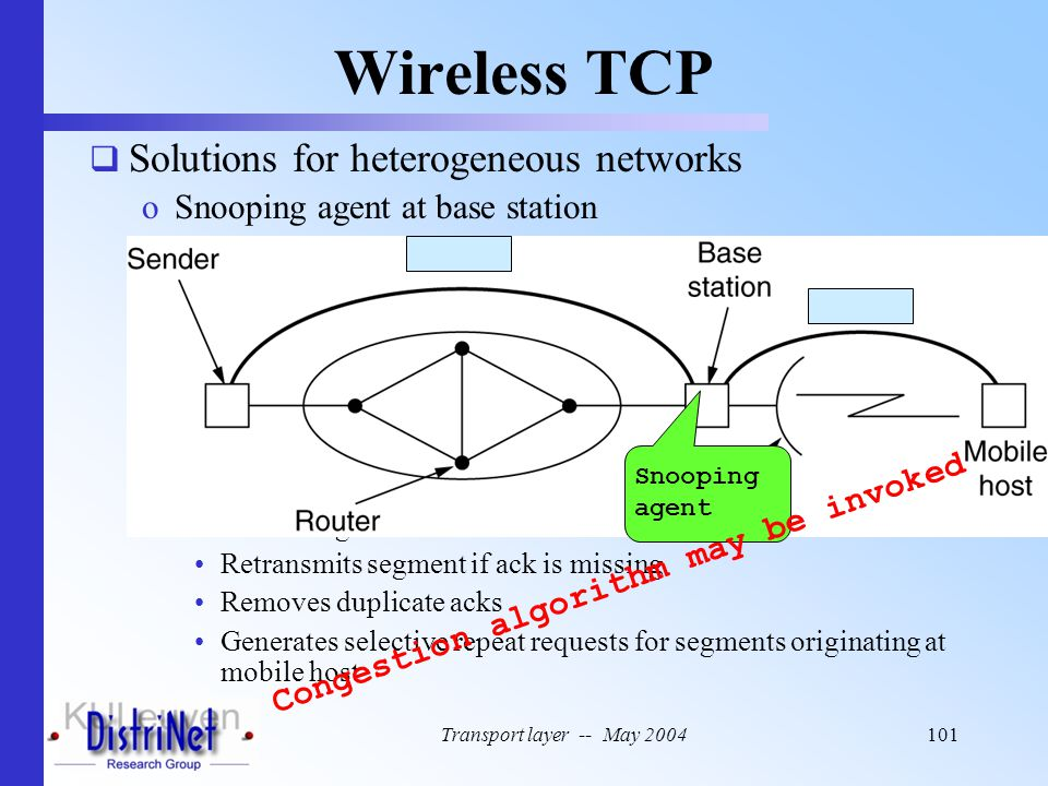 Wireless TCP Solutions for heterogeneous networks