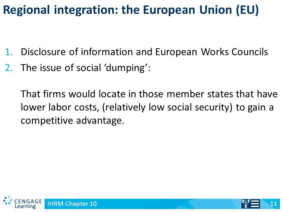 Regional integration: the European Union (EU)