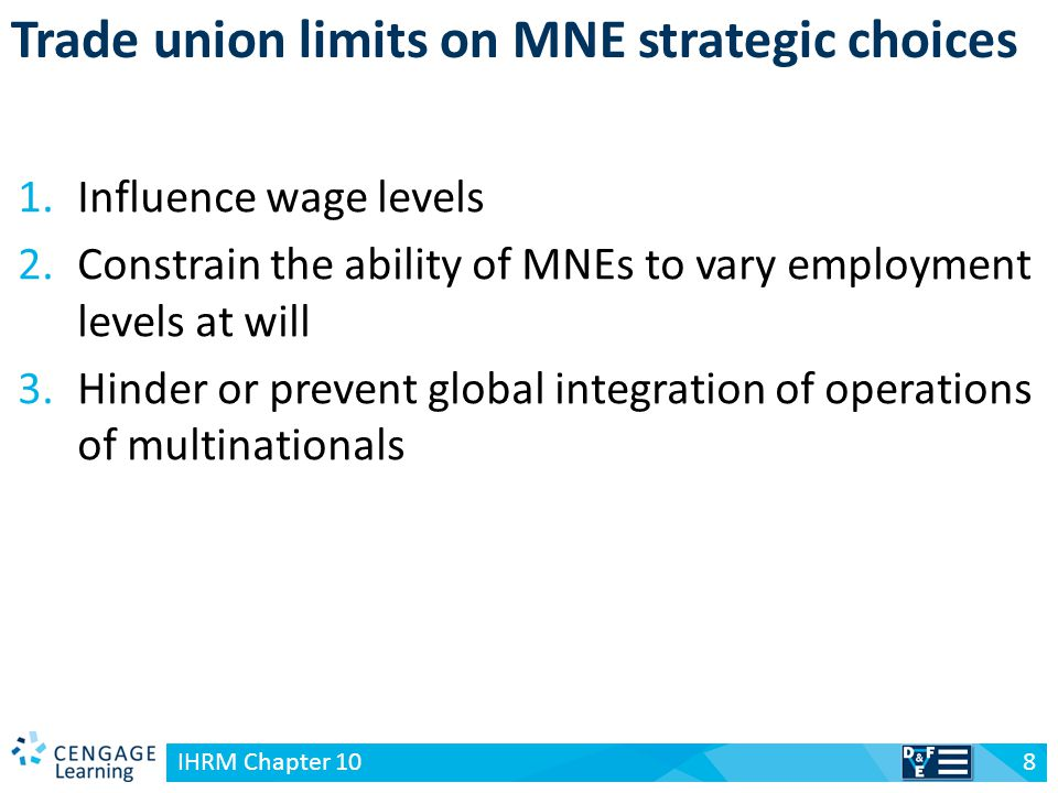 Trade union limits on MNE strategic choices