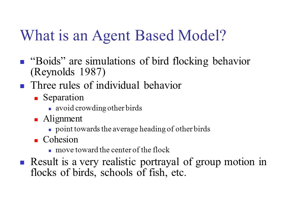 What is an Agent Based Model