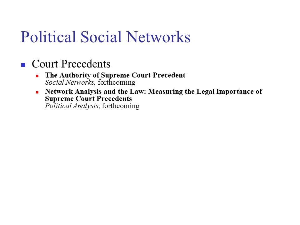 Political Social Networks