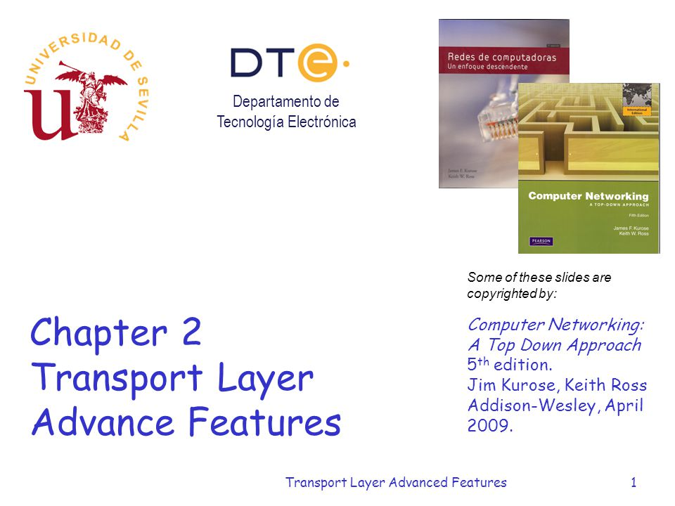 Chapter 2 Transport Layer Advance Features
