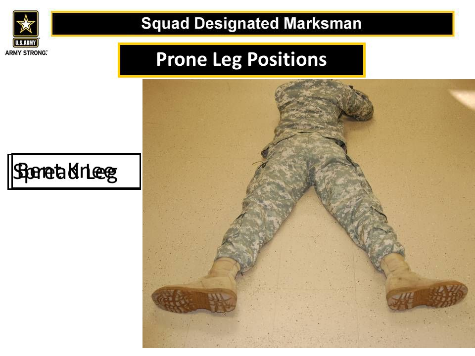 Prone Leg Positions Spread Leg Bent Knee