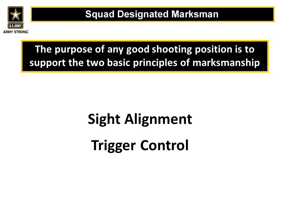 Sight Alignment Trigger Control