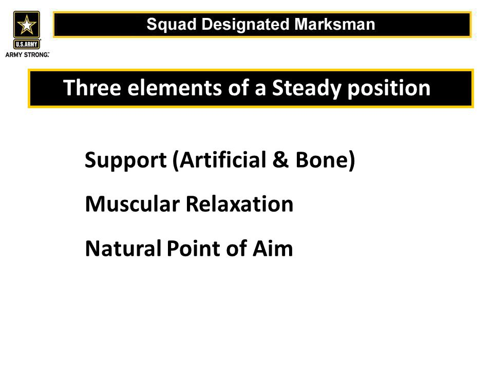 Three elements of a Steady position: