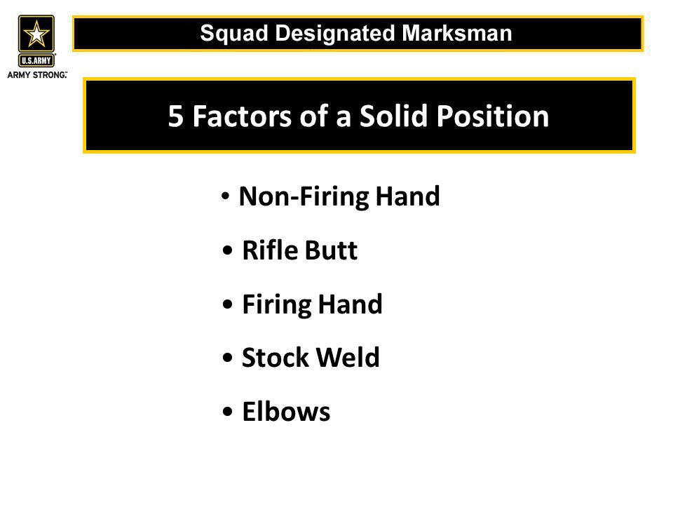 5 Factors of a Solid Position
