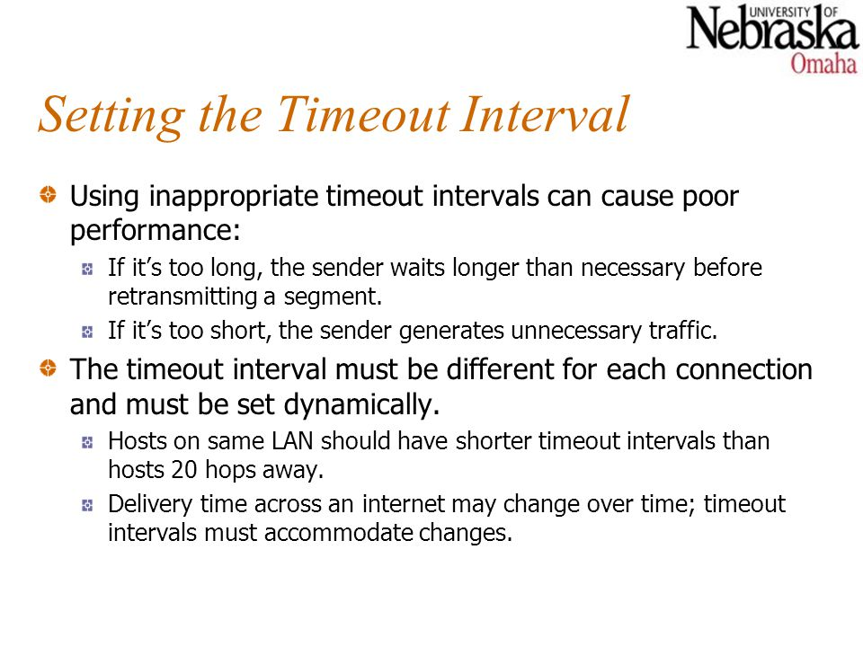 Setting the Timeout Interval