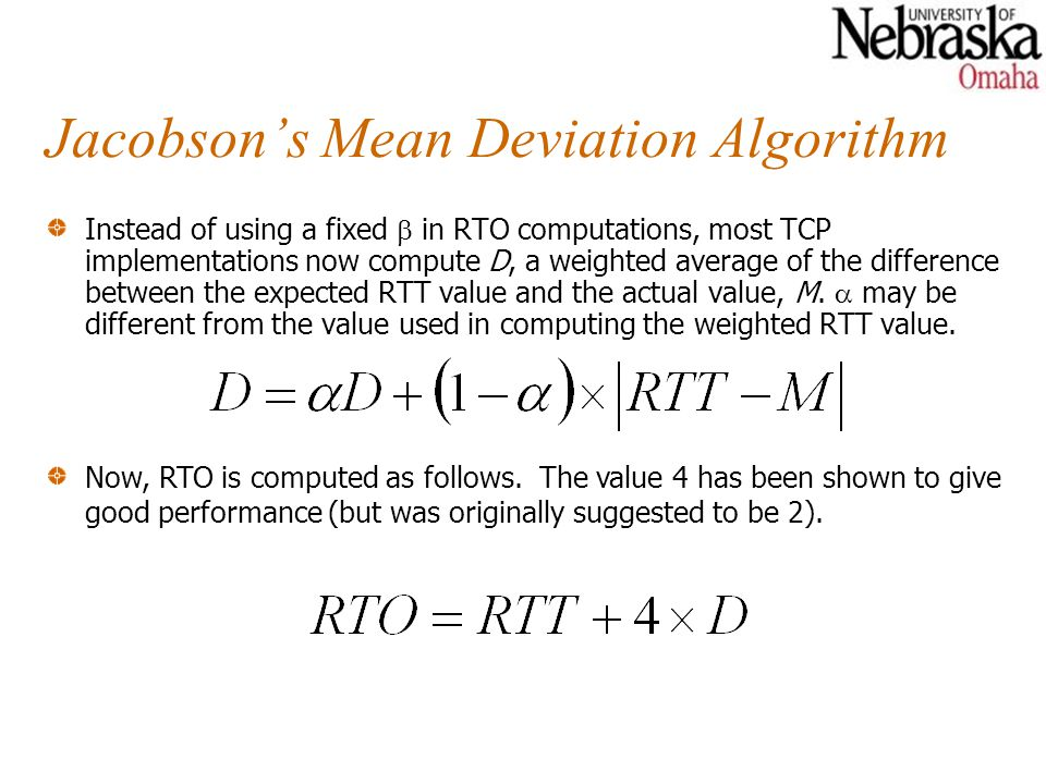 Jacobson's Mean Deviation Algorithm