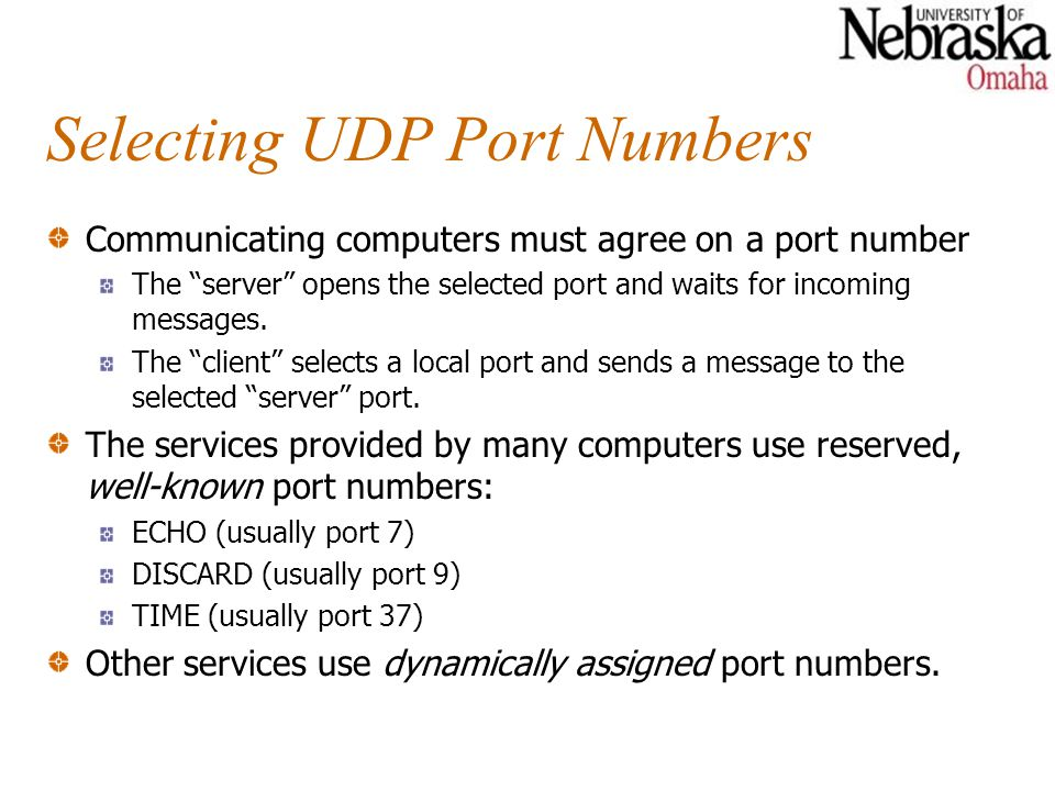 Selecting UDP Port Numbers