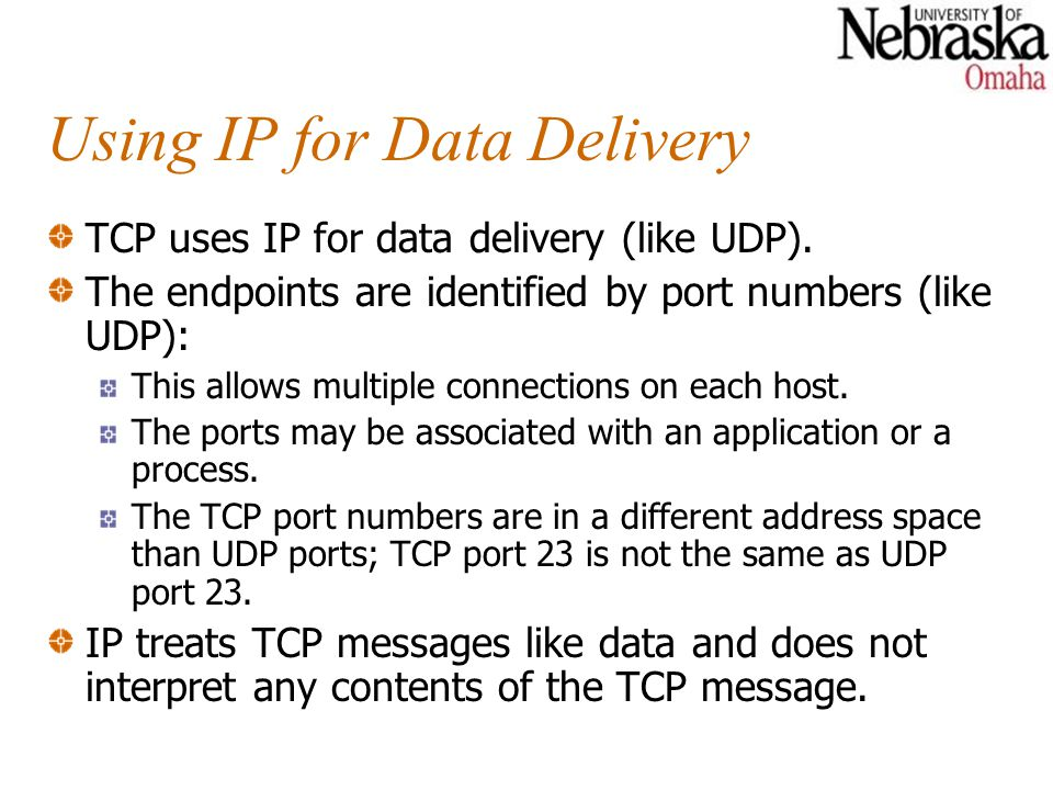 Using IP for Data Delivery