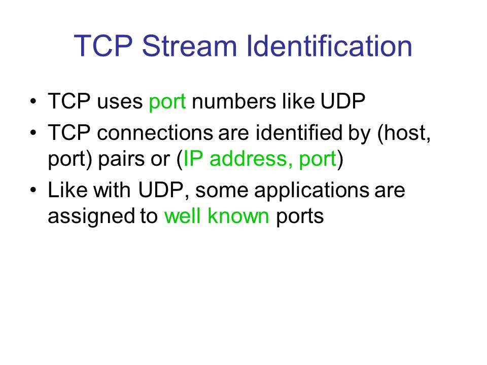 TCP Stream Identification