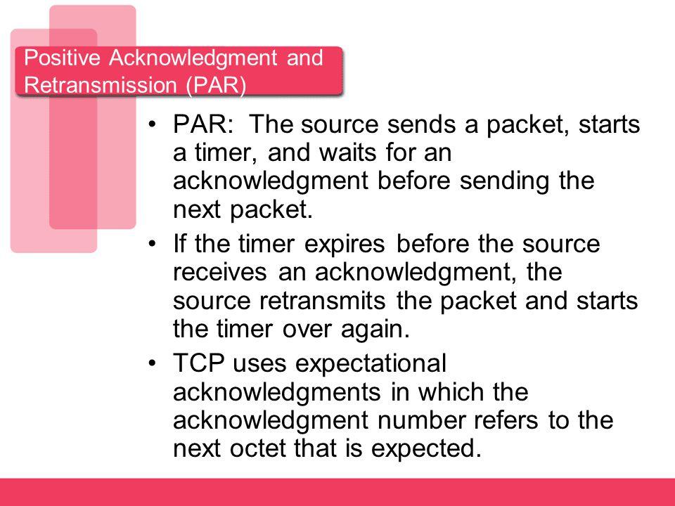 Positive Acknowledgment and Retransmission (PAR)