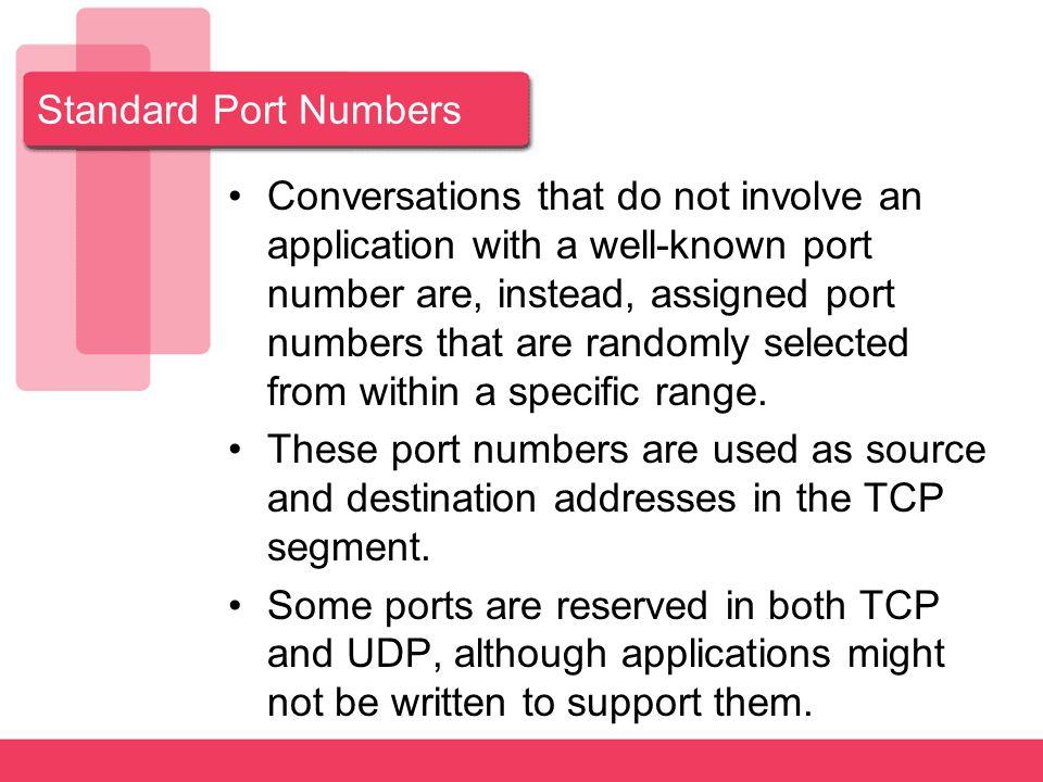 Standard Port Numbers