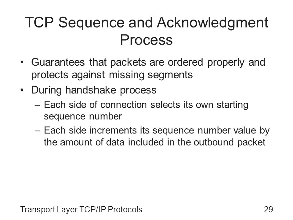 TCP Sequence and Acknowledgment Process