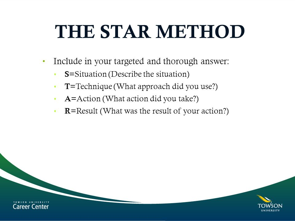 THE STAR METHOD Include in your targeted and thorough answer: