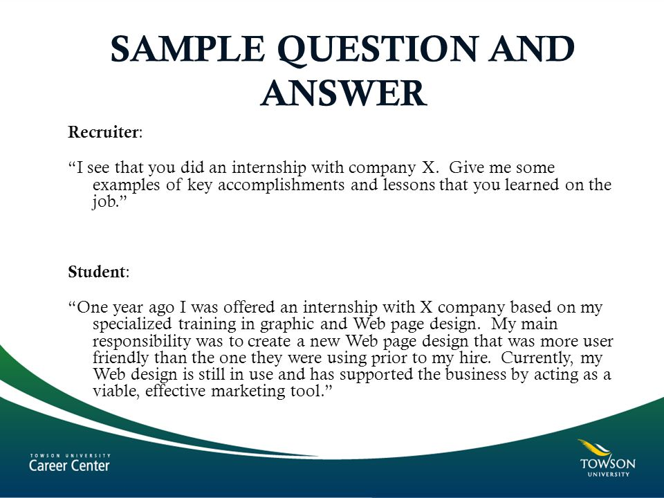 SAMPLE QUESTION AND ANSWER