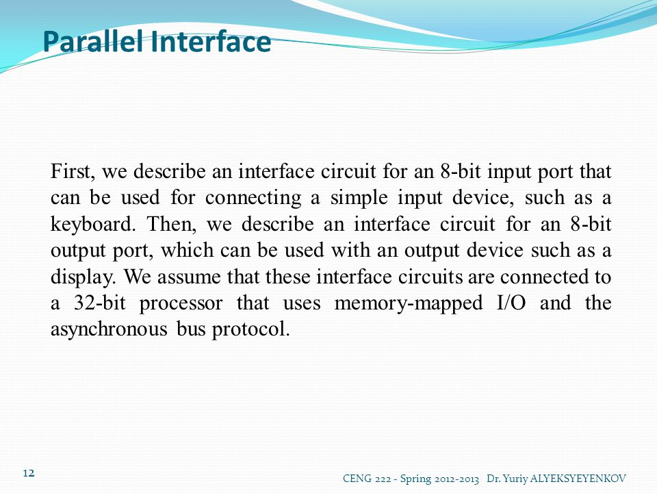 Parallel Interface