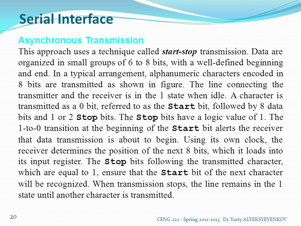 Serial Interface Asynchronous Transmission