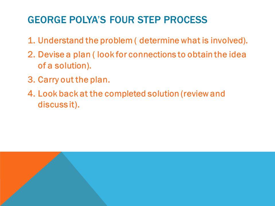 George Polya's four step process