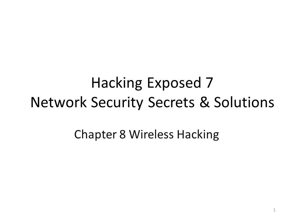 Hacking Exposed 7 Network Security Secrets & Solutions